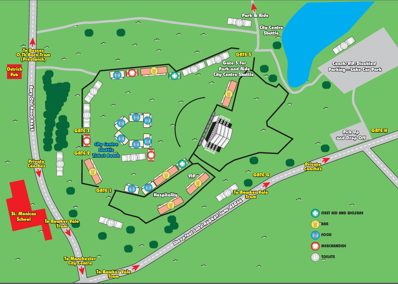 Heaton Park Map The Stone Roses At Heaton Park Arena Map Released   Tickets Still  Heaton Park Map