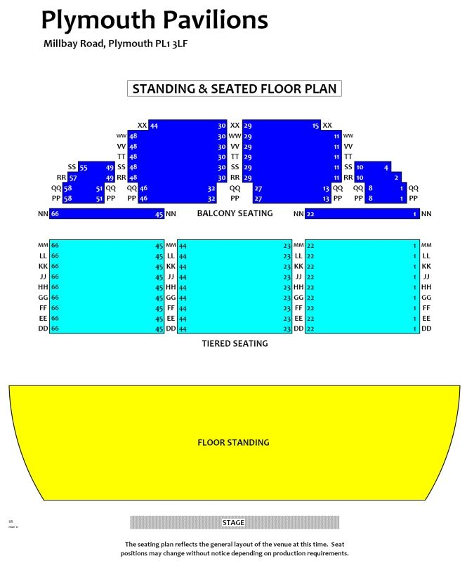 Seating Plan Plymouth Pavilions