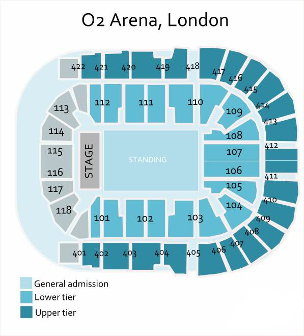 Image result for ed sheeran o2 arena seating plan