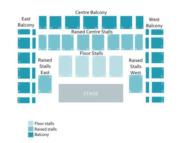 Brighton Centre Seating Plan