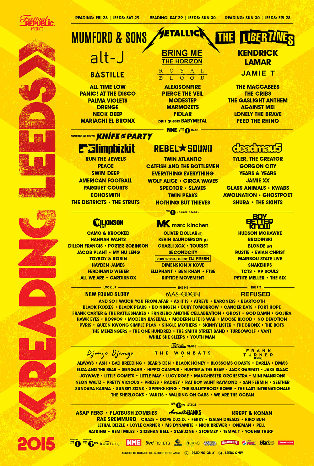 Reading & Leeds 2015 Tickets