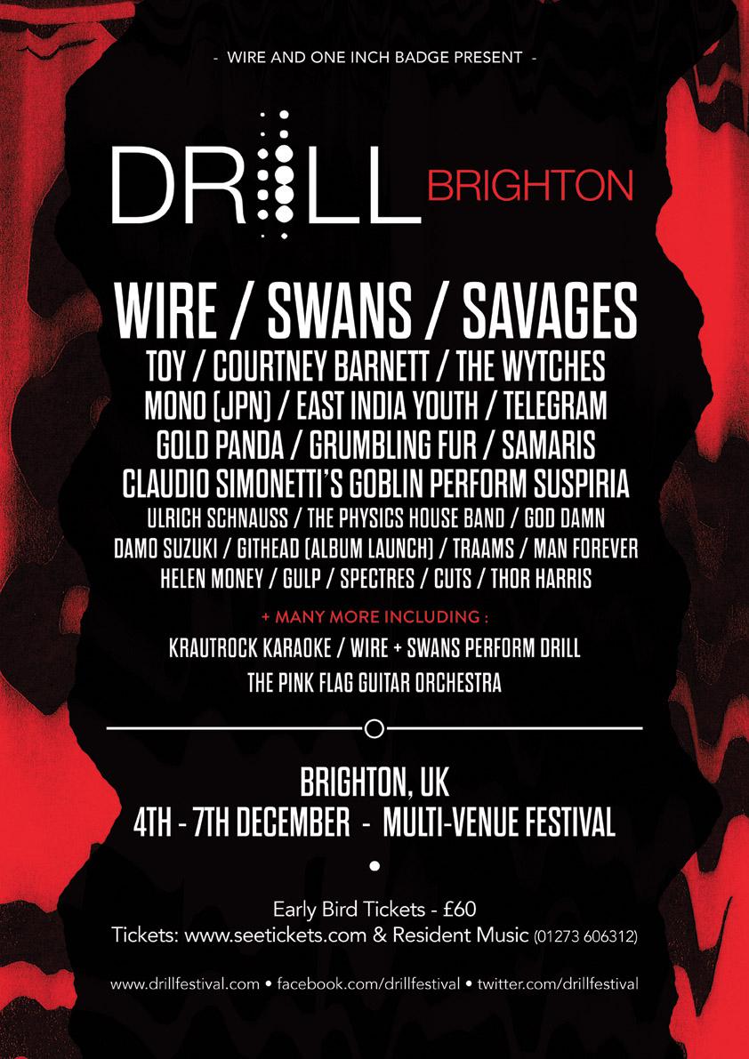 DRILL: BRIGHTON Announced! - See Tickets