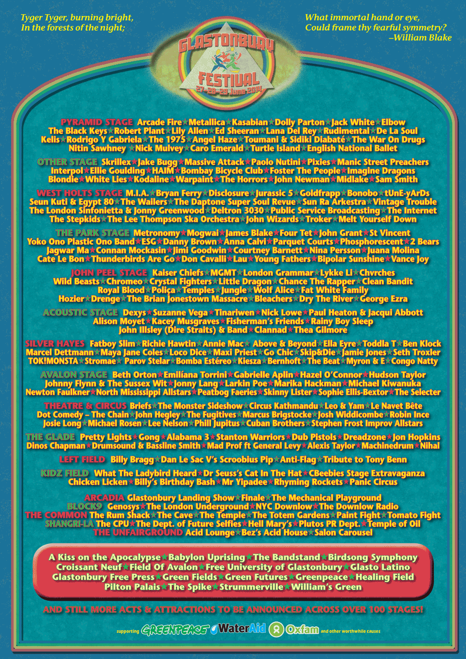 Glastonbury 2014 Line up