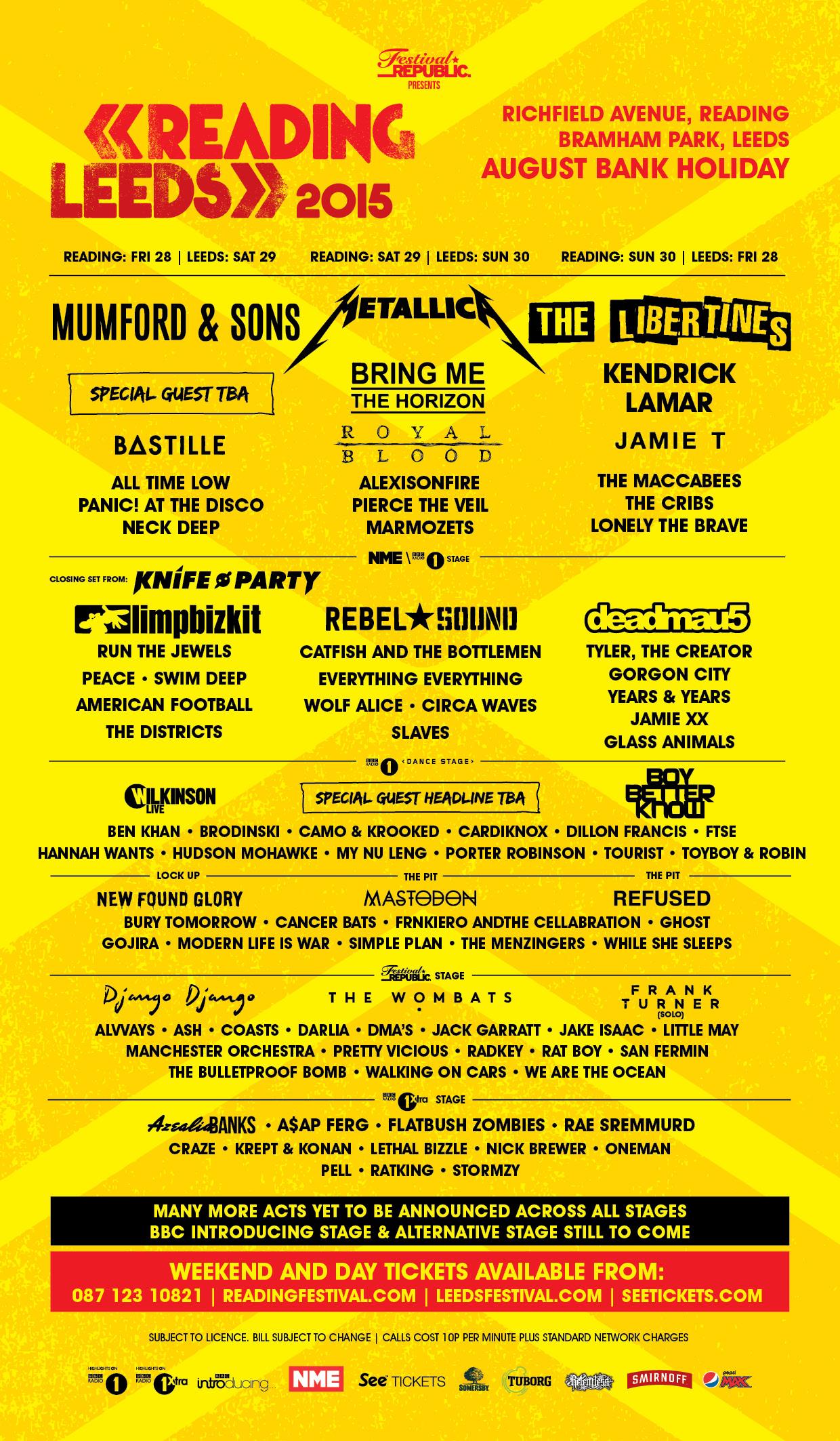 Reading & Leeds 2015 Tickets