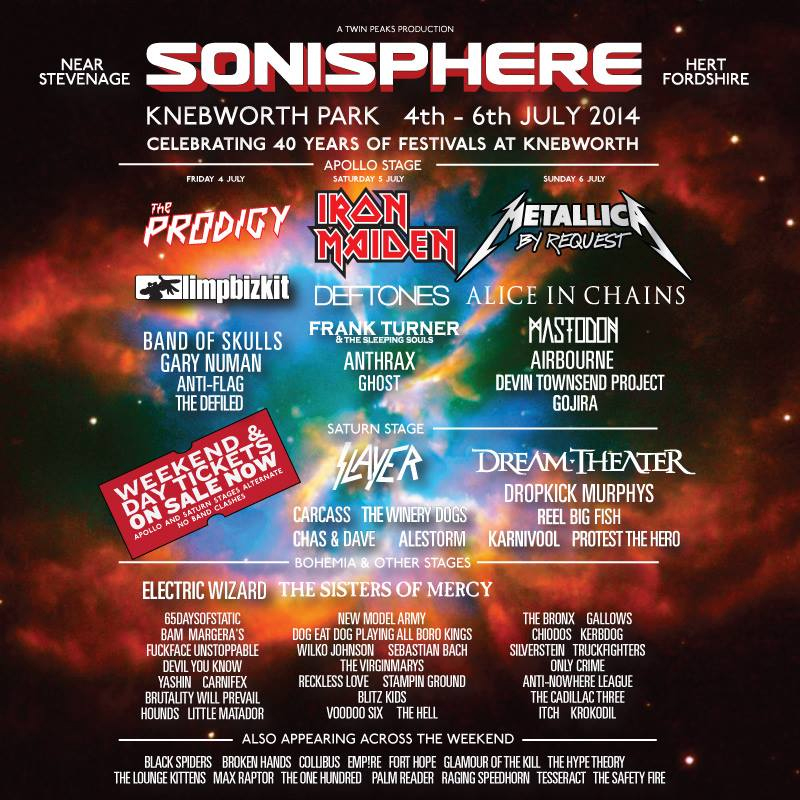 Sonisphere 2014 Tickets