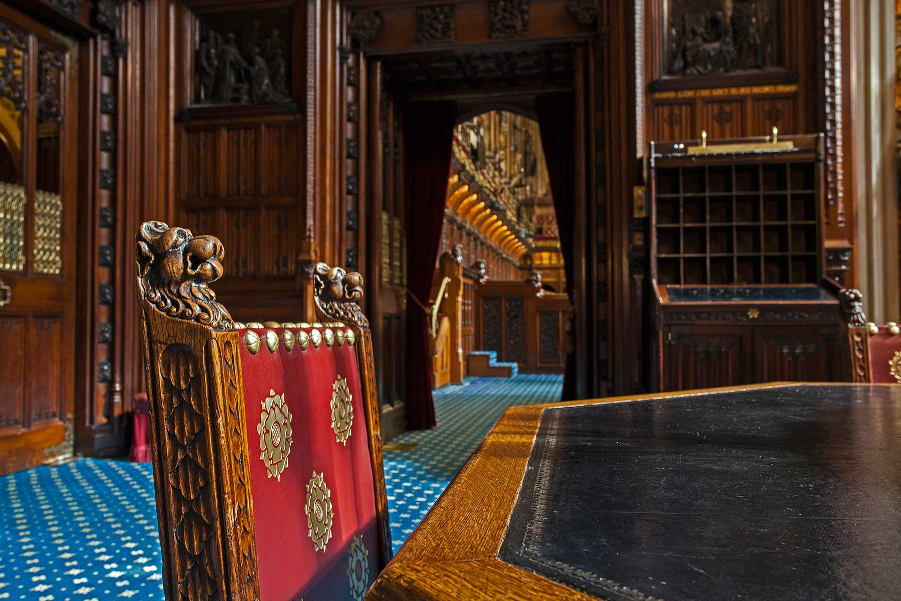 Historic furniture at the Palace of Westminster