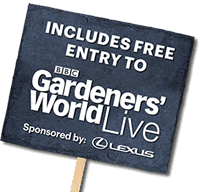 Includes free entry into Gardners World Live