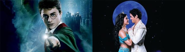 Aladdin and Harry Potter - sign up to be the first to get tickets & beat the rush