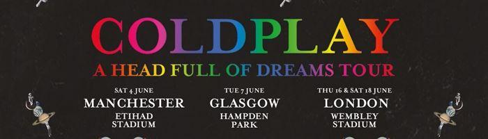 Coldplay announce 2016 UK stadium tour!