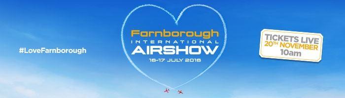 Farnborough Airshow 2016 on sale 10am Friday