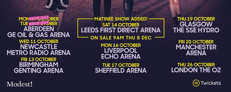 LITTLE MIX EXTRA LEEDS MATINEE SHOW ADDED