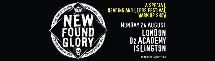 New Found Glory to play Reading & Leeds Warm Up