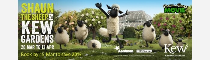 Shaun the Sheep and his Flock are coming to Kew Gardens this Easter!