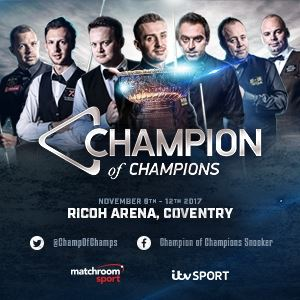 crazy price latest fashion save up to 80% Champion Of Champions 2017 Snooker Trips