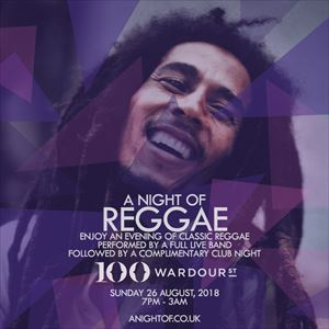 A Night of Reggae - Carnival Bank Holiday Special