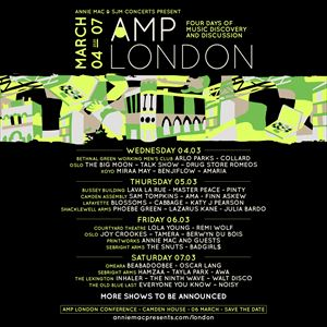 AMP London with Blossoms, Cabbage, Katy J Pearson