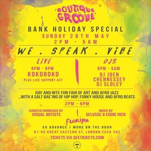 Boutique Groove presents Bank Holiday Special
