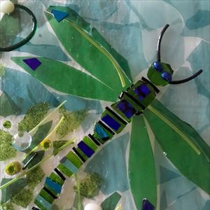 Bradgate Inspires Glass Fusion - Dragonflies
