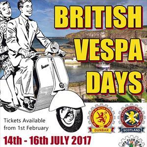 British Vespa Days Dunbar 2017