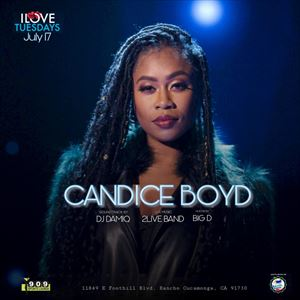 Candice Boyd Live (July 17) Tues