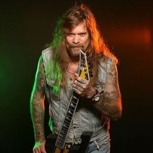 Chris Holmes with his band Mean Man