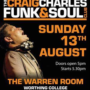 Craig Charles Funk & Soul Club Worthing