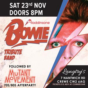 David Bowie tribute band Aladdinsane Live On Stage