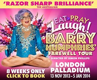 Eat Pray Laugh! Barry Humphries' Farewell Tour