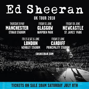 Ed sheeran concert dates