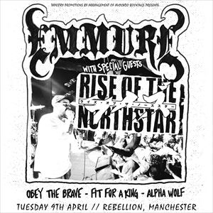 Emmure, Rise Of The Northstar + Supports