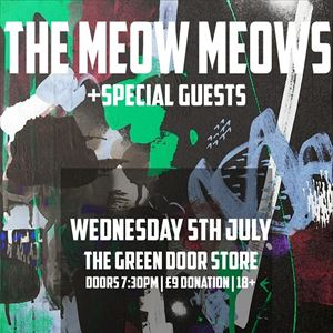 FUNDRAISER - THE MEOW MEOWS & GUESTS