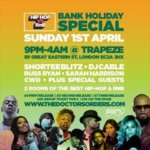 Hip-Hop vs RnB  Bank Holiday Rave