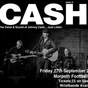 Johnny Cash tribute Morpeth Town AFC plus support