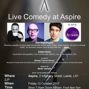 Live Comedy at Aspire for Breast Cancer Haven