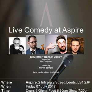 Live Comedy at Aspire - July