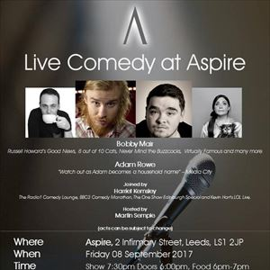 Live Comedy at Aspire - September