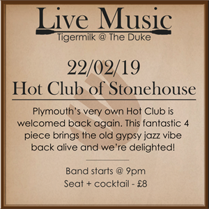 Live Jazz: Hot Club of Stonehouse