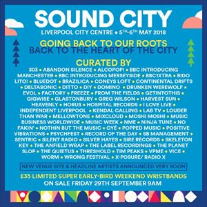 Liverpool Sound City Saturday Day Ticket