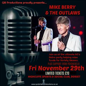 Mike Berry & the Outlaws (support by Psychedelix) from See Tickets