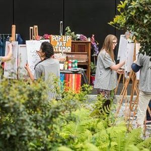 Paint Jam at Canary Wharf