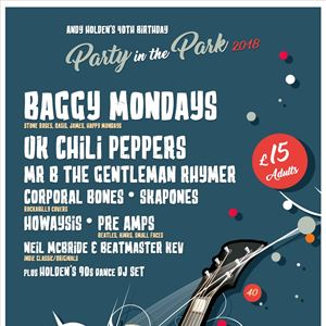 Party At The Park 2018 near Morpeth with camping
