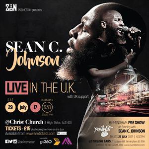 Sean C Johnson Live In the UK