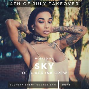 Sky of Black Ink Crew Independence Day Takeover!