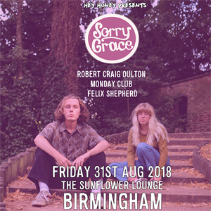 Sorry Grace (Single Launch) + Special Guests