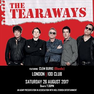 THE TEARAWAYS featuring Clem Burke ( Blondie )