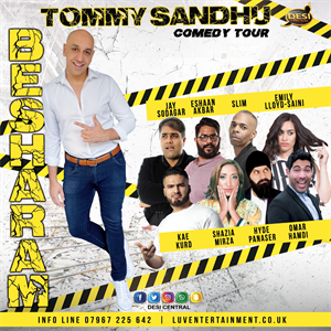 Tommy Sandhu : Besharam Comedy Tour tickets in