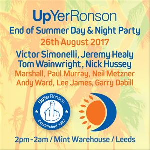 Up Yer Ronson - End of Summer Terrace Party