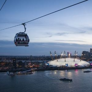 Emirates Air Line and Thames Clippers River Roamer