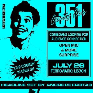 351COMEDY CLUB presents Andre De Freitas