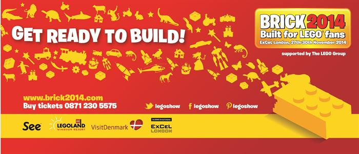 BRICK 2014 - Built For Lego Fans! Now open until 9pm Thurs 27 & Fri 28 November!